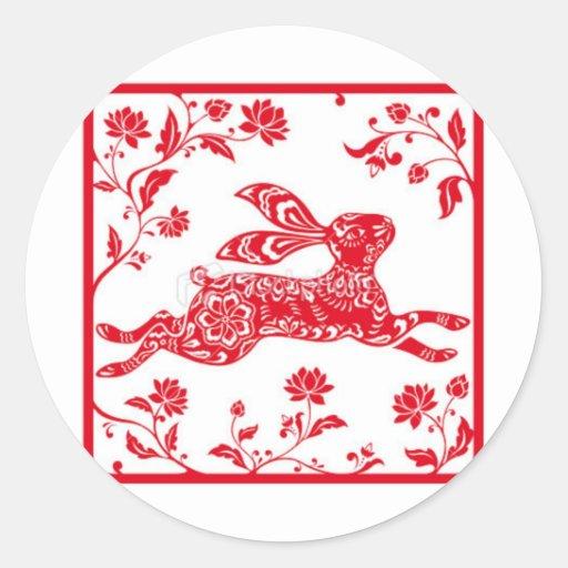 Chinese year of the Rabbit Round Sticker