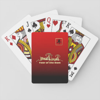 Chinese Year of the Ram Gift Playing Card Deck