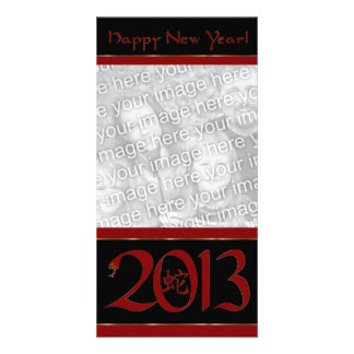 Chinese Year of the Snake New Years Photo Card
