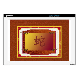 chinese year of the snake sign laptop decals