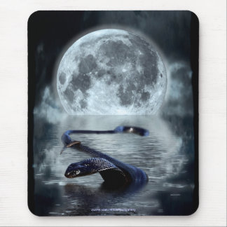 Chinese Year of the Snake Water Snake Black Snake Mouse Pad