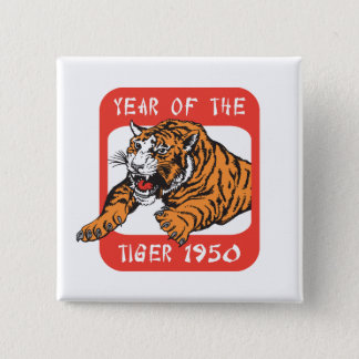 Chinese Year of The Tiger 1950 Gift Button