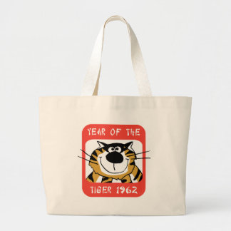 Chinese Year of The Tiger 1962 Gift Large Tote Bag