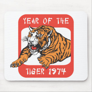 chinese tiger mouse pads zazzle chinese new year 1974 tiger - Chinese New Year 1962