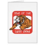 Chinese Year of The Tiger 1998 Gift Greeting Cards