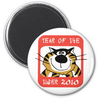 Chinese Year of The Tiger 2010 2 Inch Round Magnet