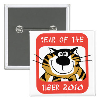 Chinese Year of The Tiger 2010 Pinback Button