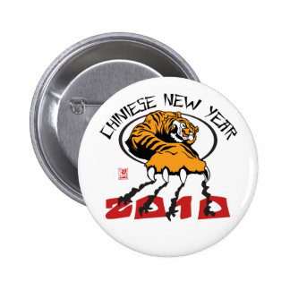 Chinese Year of the Tiger 2010 Gift Pinback Buttons