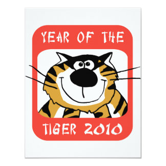 Chinese Year of The Tiger 2010 4.25x5.5 Paper Invitation Card
