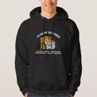 Chinese Year of The Tiger Black Hoody