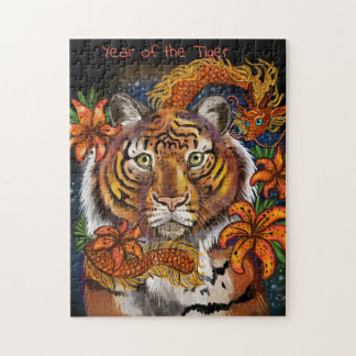 Chinese Year of the Tiger Jigsaw Puzzle