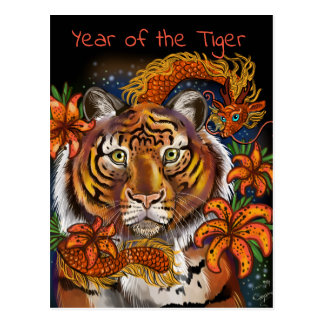 Chinese Year of the Tiger Postcard