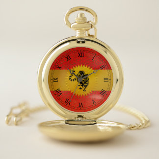 Chinese Year of the Tiger with Roman Numerals Pocket Watch