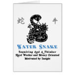 Chinese Year of The Water Snake 1953 2013 Greeting Card