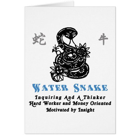 Chinese Year of The Water Snake 1953 2013 Card