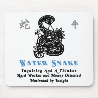Chinese Year of The Water Snake 1953 2013 Mouse Pad