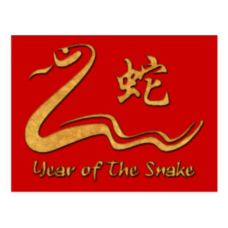 Chinese Year of The Wood Snake 1965 Postcard