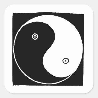 Chinese Yin Yang Symbol Square Sticker