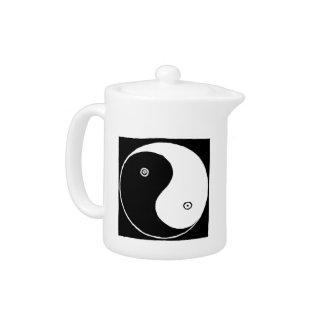 Chinese Yin Yang Symbol Teapot