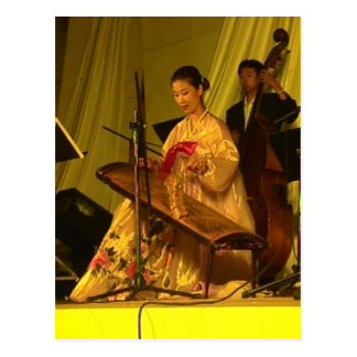 Chinese Zither player Postcard