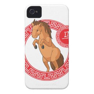 Chinese Zodiac Animal - Horse iPhone 4 Cases