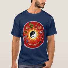 Chinese Zodiac Animal In Black Outlines. T-shirt at Zazzle