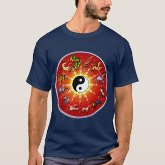 Chinese Zodiac Animal in Black Outlines. T-Shirt