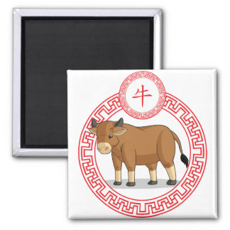 Chinese Zodiac Animal - Ox Fridge Magnets