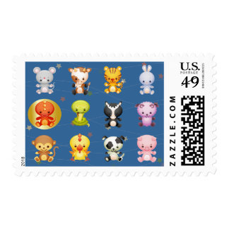 Chinese Zodiac Animals Year of the Dragon Postage Stamp