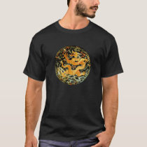 Chinese zodiac antique embroidered golden dragon T-Shirt