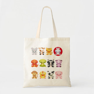 Chinese Zodiac Cartoon Year of the Rabbit Tote Bag