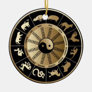 Chinese Zodiac Chart Ceramic Ornament