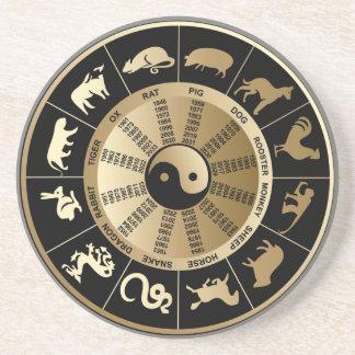 Chinese Zodiac Chart Coaster