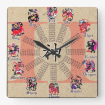 Chinese Zodiac Clock