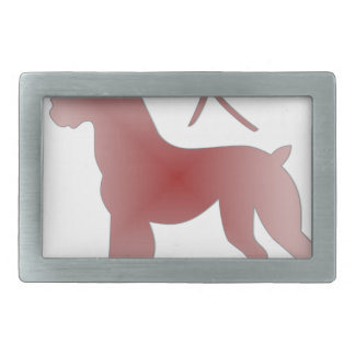 chinese zodiac dog rectangular belt buckle