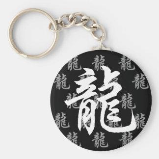 Chinese Zodiac Dragon Calligraphy Keychains