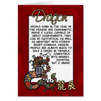 Chinese Zodiac - Dragon Greeting Card