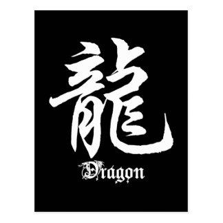 Chinese Zodiac Dragon Character Gift Postcard