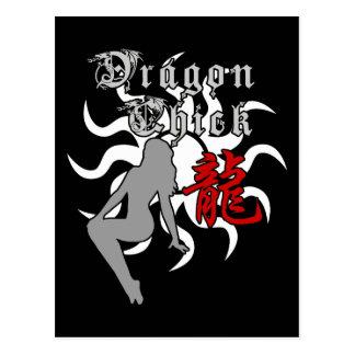 Chinese Zodiac Dragon Chick Postcard