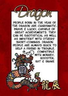 Chinese Zodiac Dragon Gifts on Zazzle