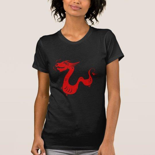 CHINESE ZODIAC DRAGON PAPERCUT ILLUSTRATION T-Shirt