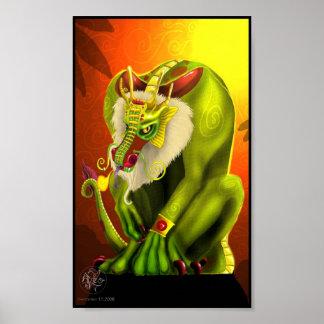 Chinese Zodiac Dragon Poster