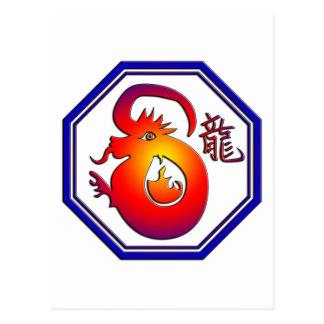 Chinese Zodiac Dragon Sign Gift Postcard