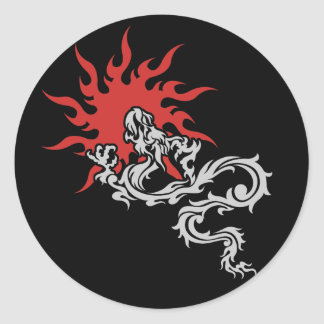Chinese Zodiac - Fire Dragon Sign Classic Round Sticker