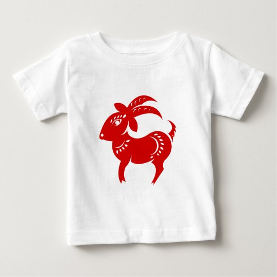 CHINESE ZODIAC GOAT PAPERCUT ILLUSTRATION BABY T-Shirt