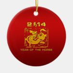 Chinese Zodiac Horse 2014 Christmas Tree Ornament