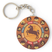 Chinese Zodiac - Horse Keychain