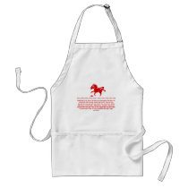 CHINESE ZODIAC HORSE PAPERCUT ILLUSTRATION ADULT APRON