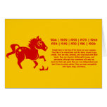 CHINESE ZODIAC HORSE PAPERCUT ILLUSTRATION GREETING CARD