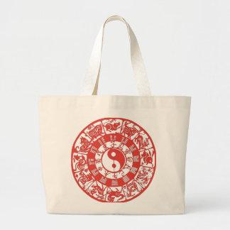 """Chinese Zodiac"" Large Tote Bag"